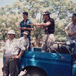 Año 1992. Remate Feria en Baradero, Oscar Subarooca, Nicolas Subarroca, Roberto Subarroca, Tomas Reynal y Victor Sisini.