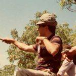 Victor Sisini rematando en la feria de Baradero en el año 1997.